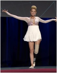 Haslet is a ballroom dancer, and has returned to the dance floor since becoming an amputee